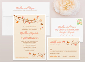 Fall Leaves Wedding Invitation