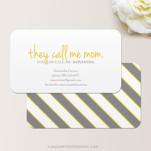 They Call Me Mom Business Card