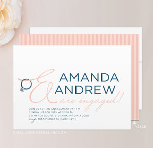 Ring Engagement Party Invitation