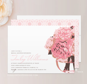 Peonies Bridal Shower Invitation