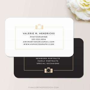 Photographer Business Card, Photography Business Card, Wedding Photographer Calling Card, Wedding Photography, Small Business Contact Card, Clean Photographer Business Card