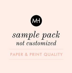 Wedding Stationery Sample Pack