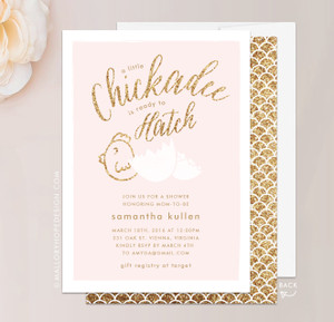Chickadee Baby Shower Invitation
