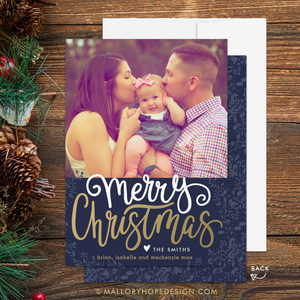 Rustic Photo Christmas Card