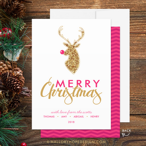 Rudolph Holiday Card - Merry Christmas