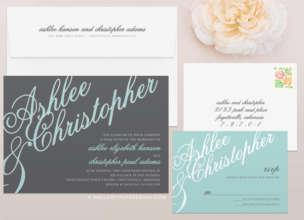 Elegant Names Wedding Invitation