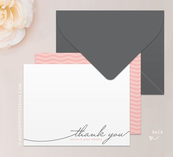 Handwriting Simplicity Stationery or Thank You Card