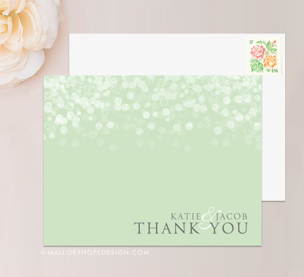 Champagne Bubbles Thank You Card