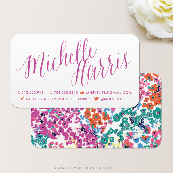 Modern Floral Business Card