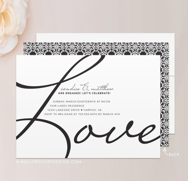 Love Engagement Party Invitation