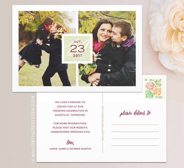 Double Photo Save the Date