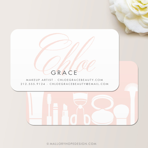 Grace Makeup Artist or Cosmetologist Business Card