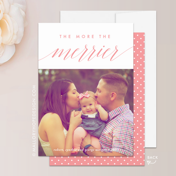 The More the Merrier Photo Christmas Card