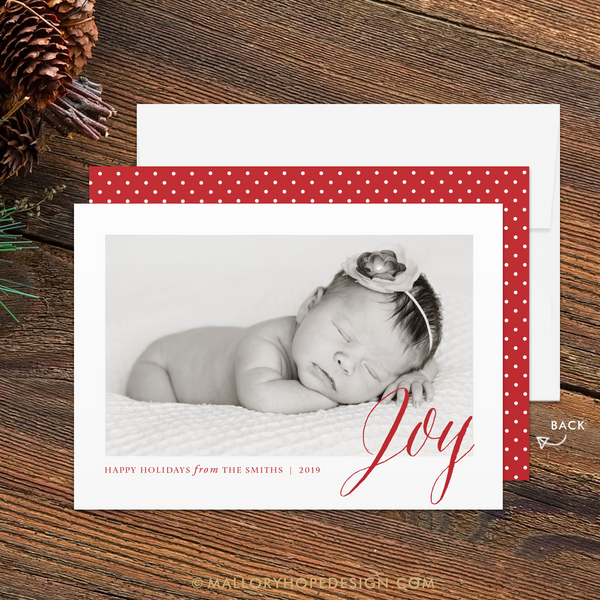 Joy Photo Photo Holiday Card