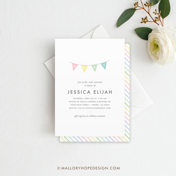 Minimal Baby Shower Invitation