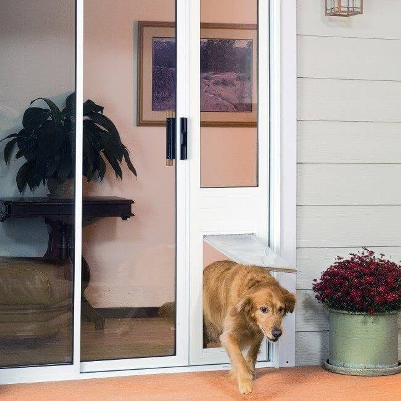 Thermo Panel 3e Endura Flap pet door has an adjustable rise so the pet door can be lowered or raised to suit the dog who uses it