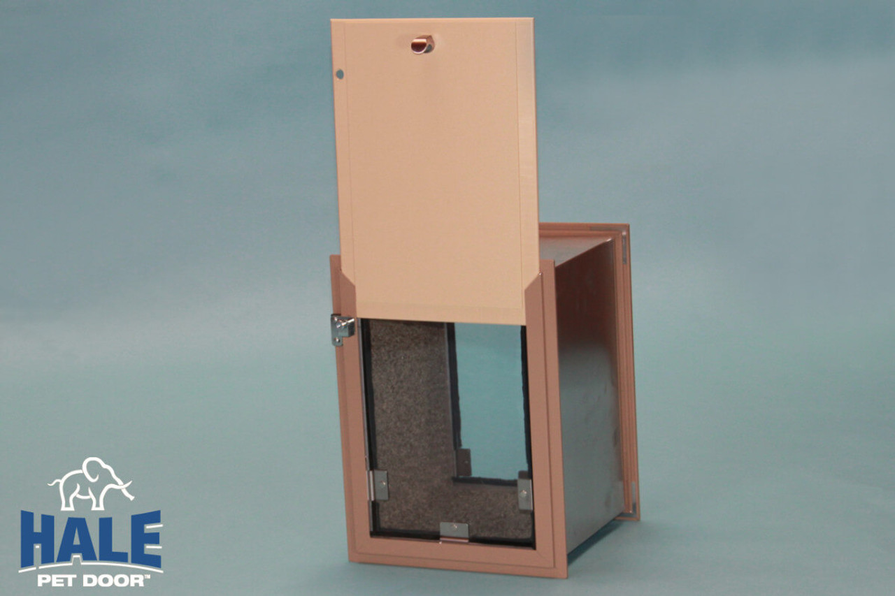 Hale doggy Doors for walls come with a starboard plastic security locking cover which locks so that it can not be removed from the outside