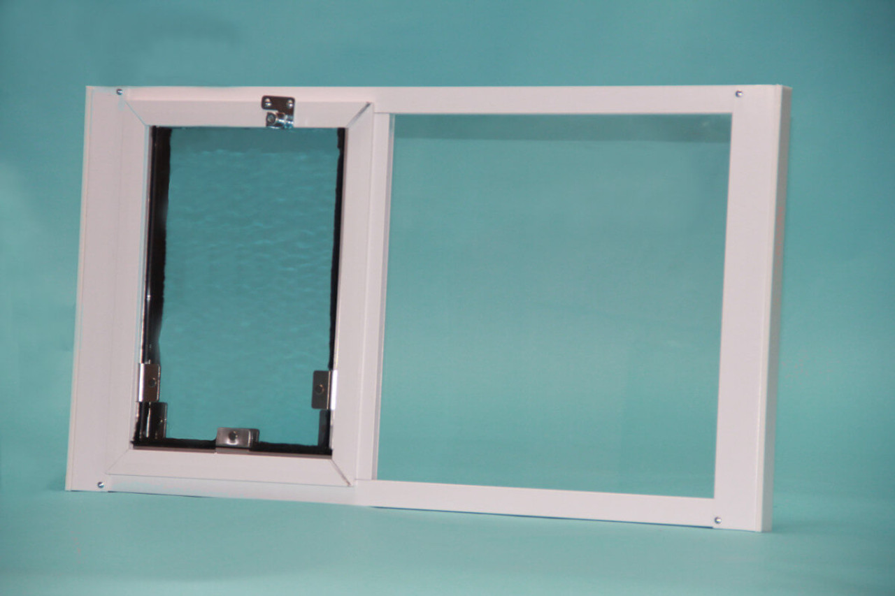 Beautiful Hale Optiview Pet Door For Windows Is Weather Tight With Dual Pane Glass  And Double Flaps