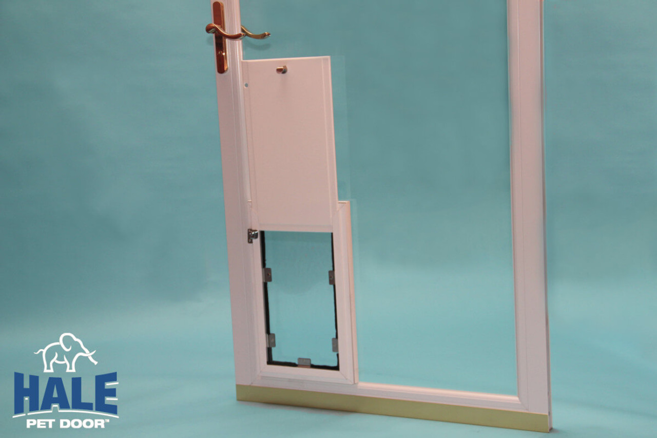 Hale In Glass Doggy Doors Have A Single Flap In The Single Pane Glass  Version And