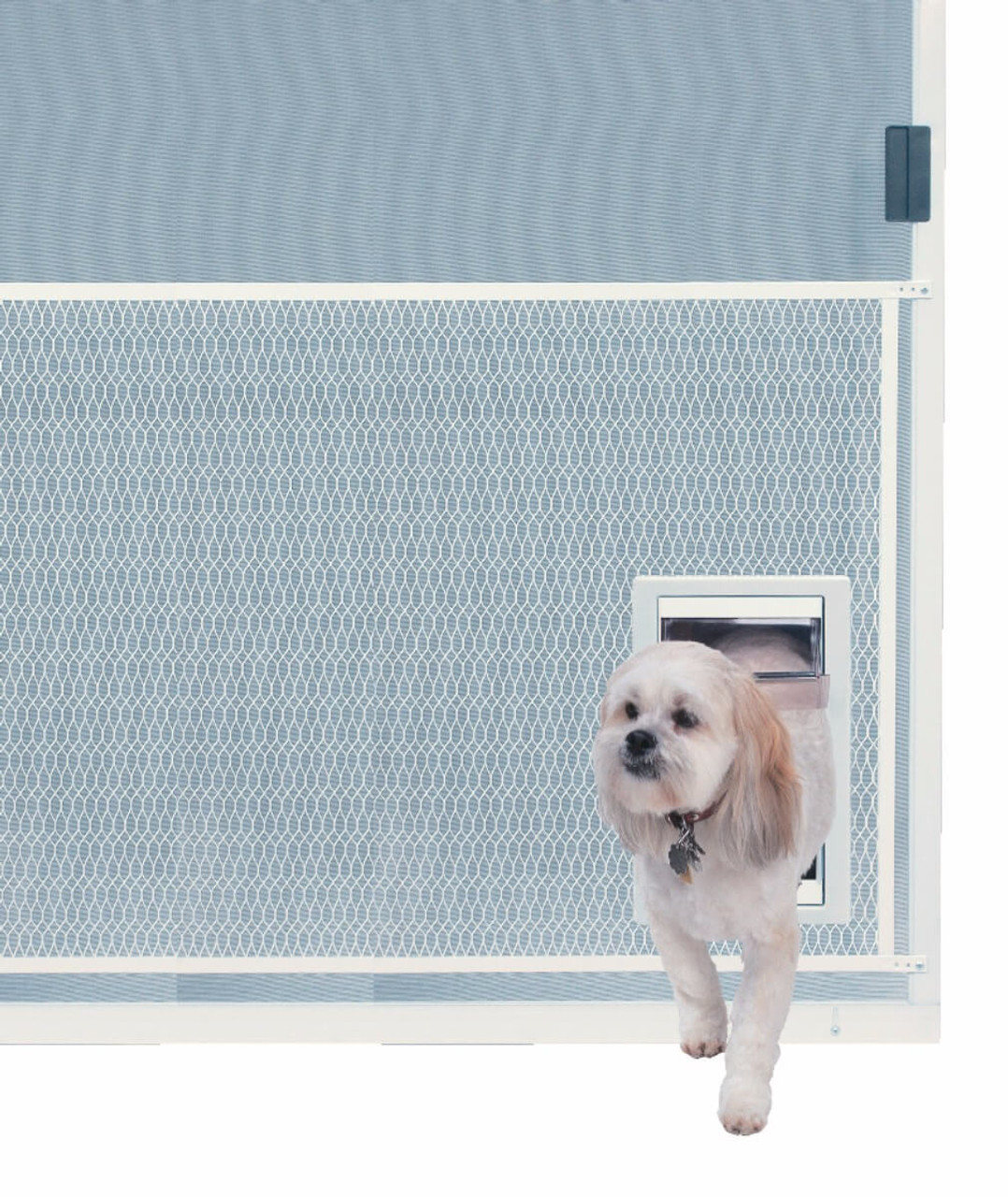 Ideal Screen Guard Pet Doors Attach To The Mesh Protective Guard That  Covers The Lower Half