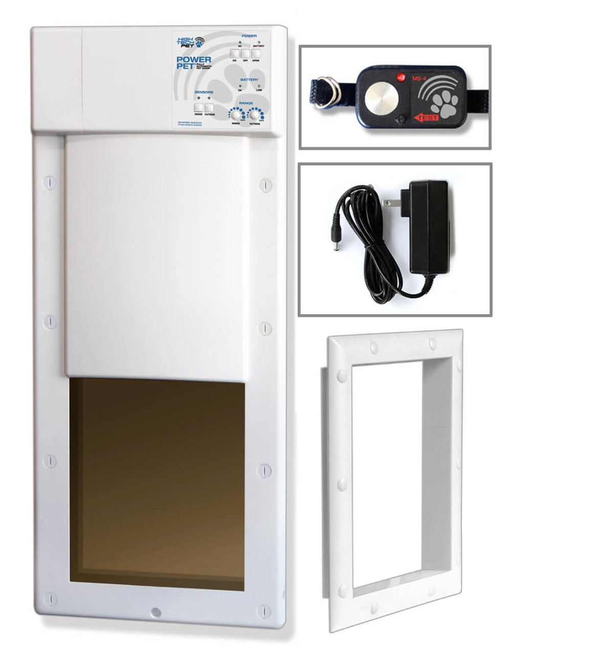 High Tech Electronic Motorized Pet Doors Have A Lexan Flap That Slides Up  And Down When