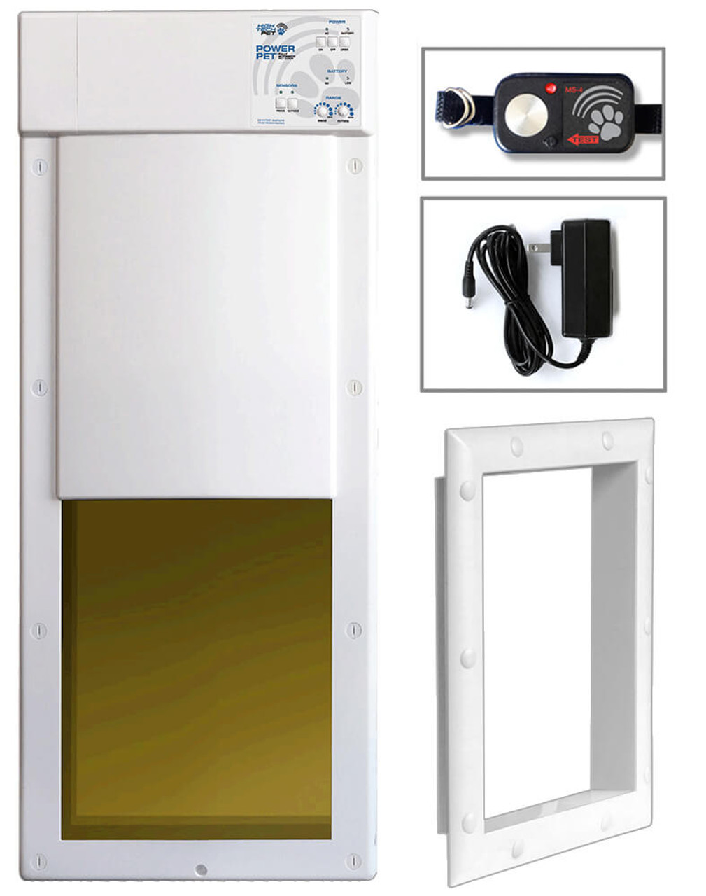 High Tech Electronic Motorized Dog Doors can be installed in doors or walls