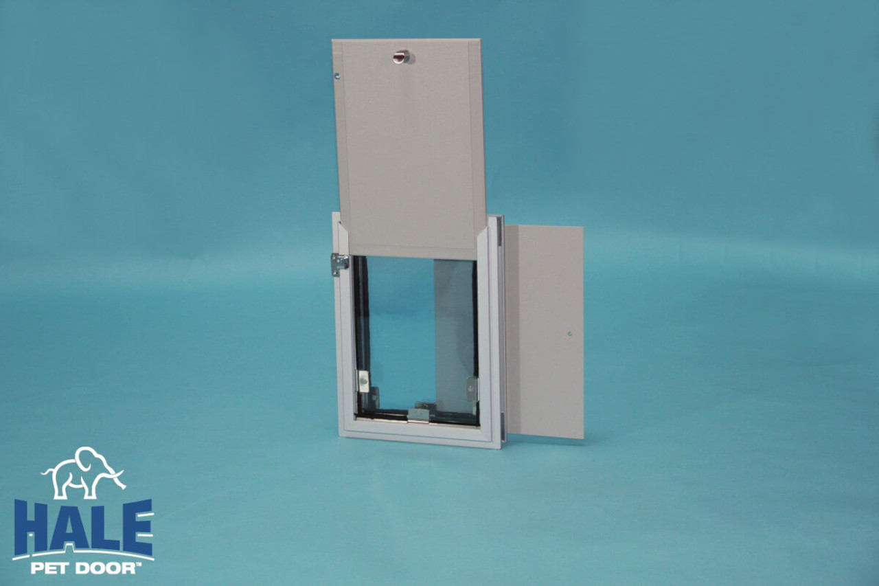 Hale wall Pet Doors have an option to have a second locking  cover added to the outside frame