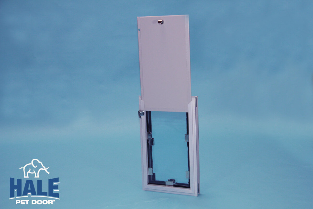 Hale dog door can be customized for French door installations or to fit an existing hole in your door