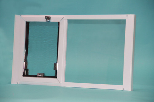 Hale Optiview Pet Door For Windows Is Weather Tight With Dual Pane Glass  And Double Flaps ...
