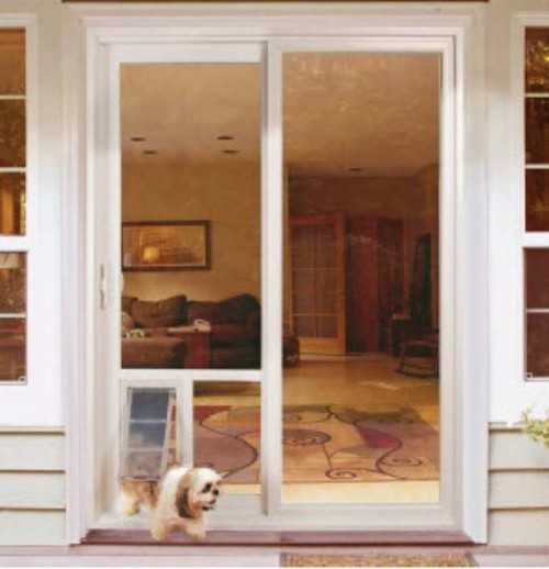 Pet Door Guys In Glass Doggy Doors Is A Replacement Window For Your Sliding  Door Or ...