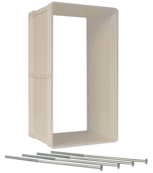 Ideal Ruff Weather Wall Kits include a plastic tunnel for your wall and the longer bolts necessary to attach the doggy door to it