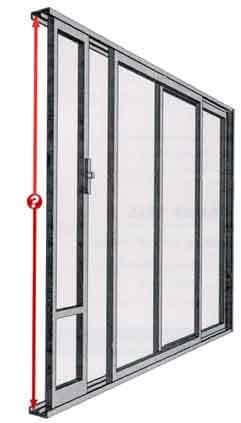 Measuring The Sliding Door Height: