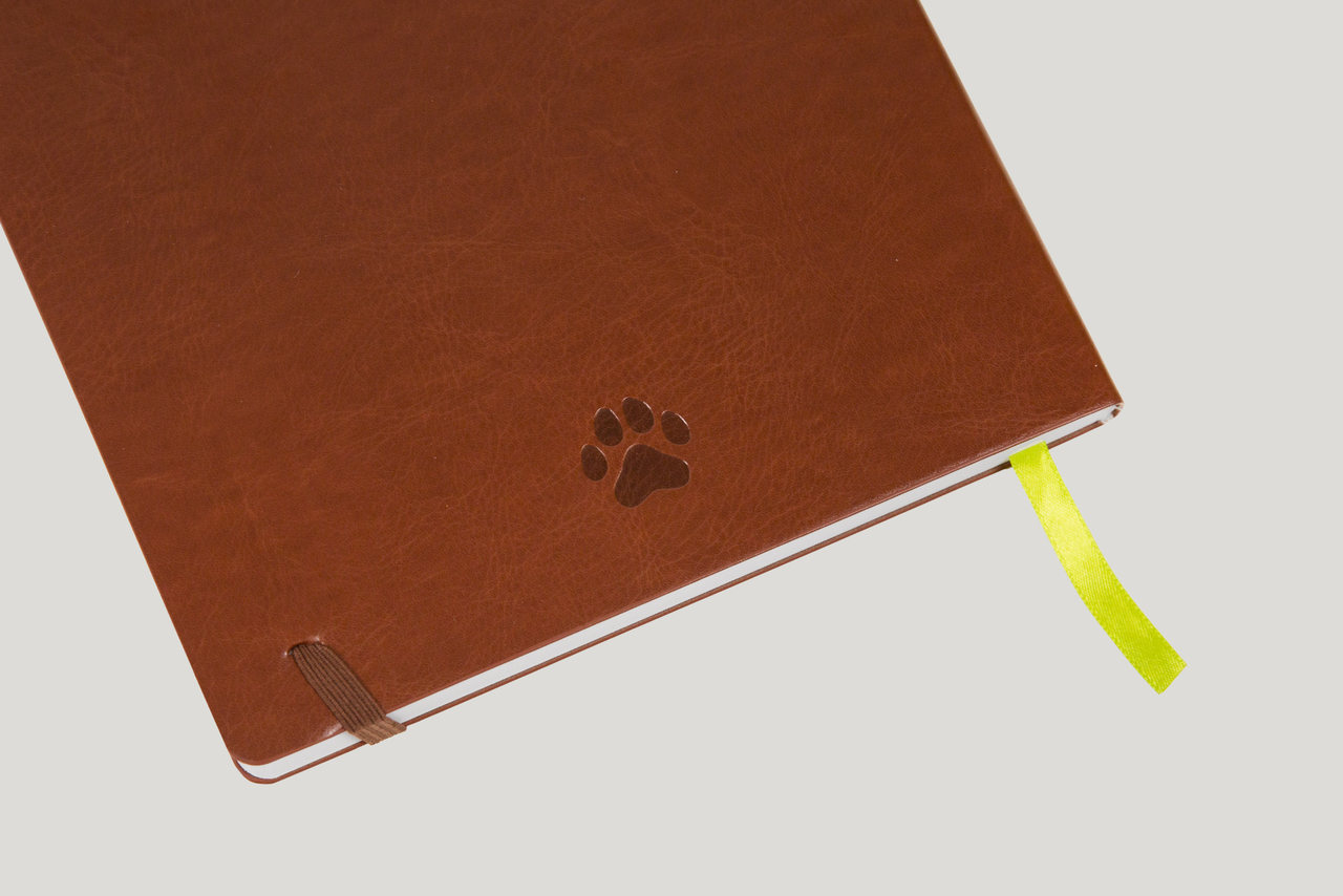 Undated Paw Print Brown