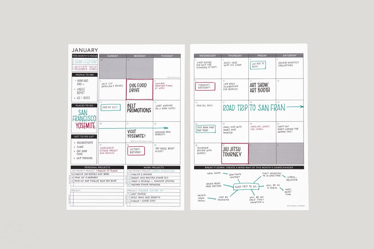 Free Printable - Dated Planner 2019 | Passion Planner