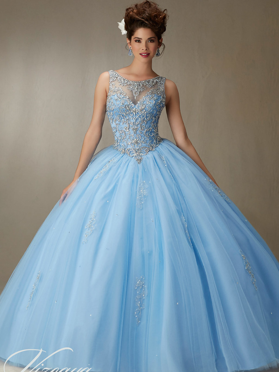 Vizcaya 89067 High Neck Ball Gown Dress | PromHeadquarters.com