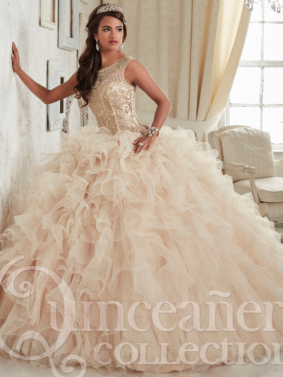 Tiffany Sparkle Tulle Ball Gown Quinceanera Dress 26835
