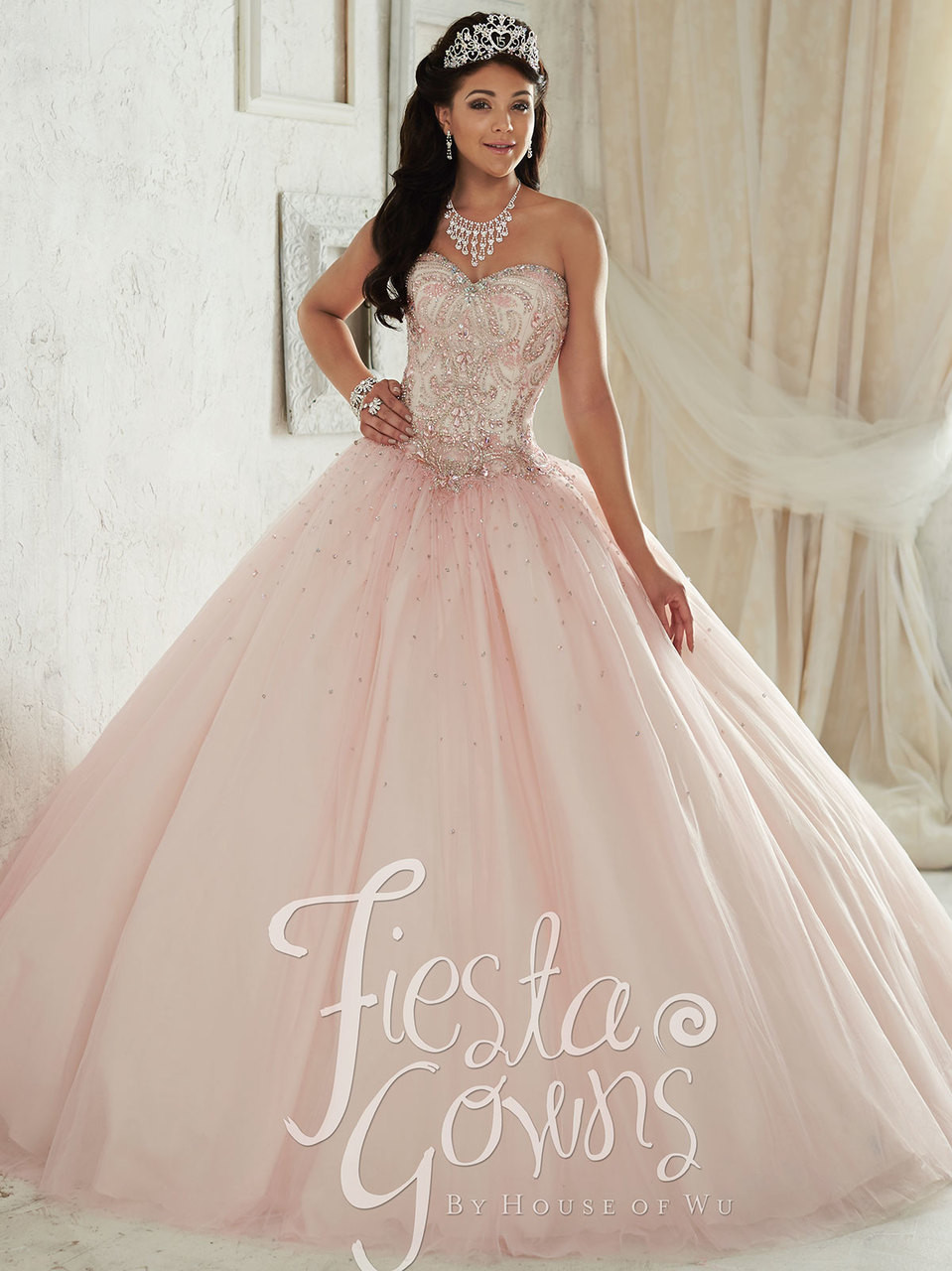 Tiffany Fiesta 56287 Beaded Bodice Quinceañera Ball Gown ...