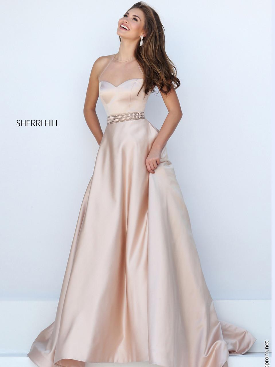 Sherri Hill 50222 Halter Neckline Prom Ball Gown | PromHeadquarters.com