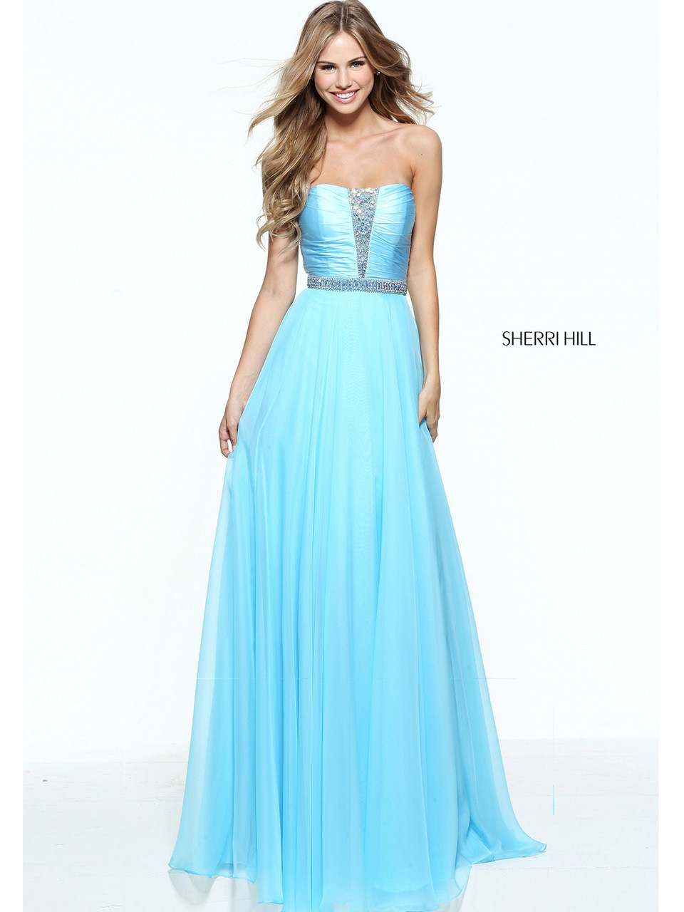 Sherri Hill 51002 A-Line skirt Prom Dress | PromHeadquarters.com