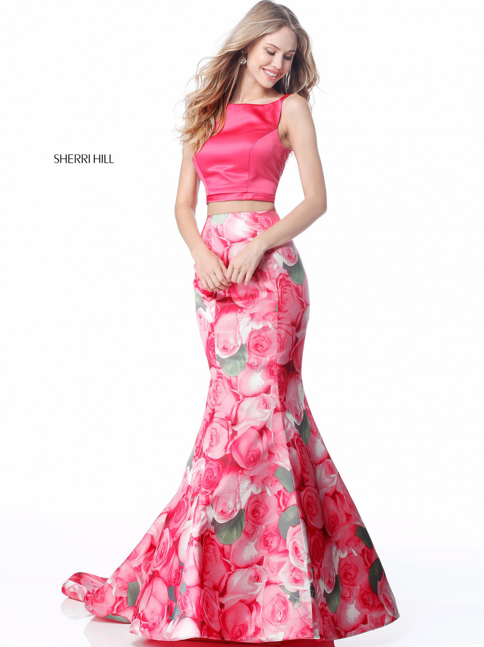 Two piece floral sherri hill 51848 promheadquarters two piece floral sherri hill 51848 mightylinksfo