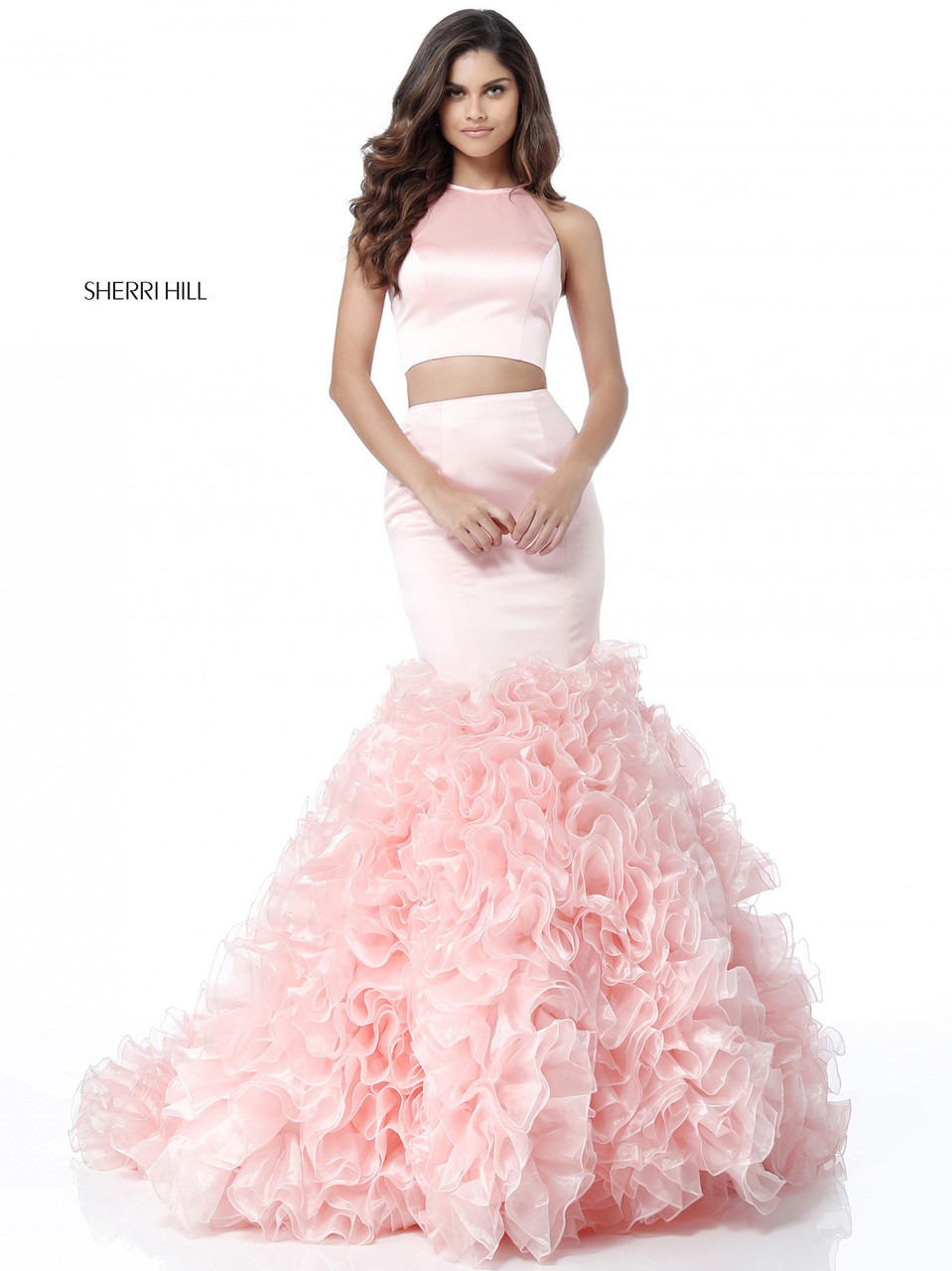 Ruffled Mermaid Sherri Hill 51801 | PromHeadQuarters.com