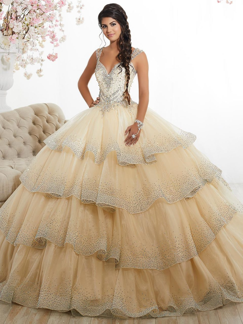 Sweetheart Ball Gown Tiffany Quinceanera Dress 26880 ...