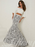 Bell Sleeves Two Piece Tiffany Designs Prom Dress 16272