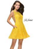 Lace La Femme Short Party Dress 26616