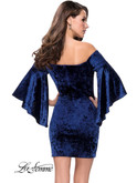 Velvet Off The Shoulder La Femme Dress 26640