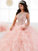Quinceanera Collection Ruffled Ball Gown Dress 26901