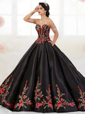 Sweetheart Floral Embroidered Quinceanera Collection Ball Gown Dress 26908