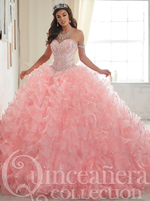 Tiffany Tulle Ball Gown Quinceanera Dress 26838 | PromHeadquarters.com