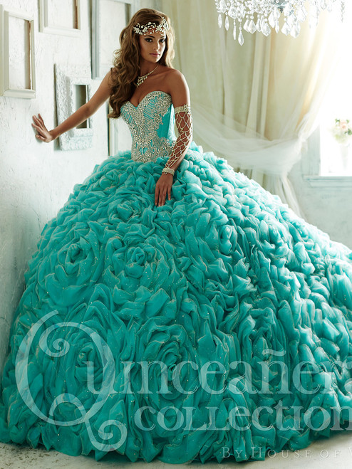 0b61634f5ea Strapless Quinceañera Collection Prom Dress 26800