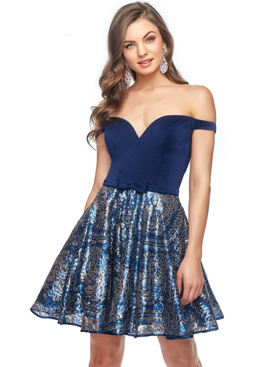 Off The Shoulder Lucci Lu Homecoming Short Dress 28411